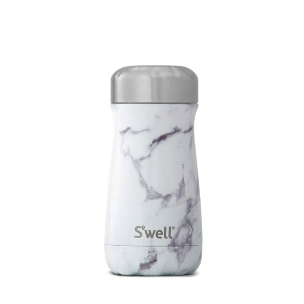 S Well White Marble 12 Oz Stainless Steel Travel Mug 187 Live By
