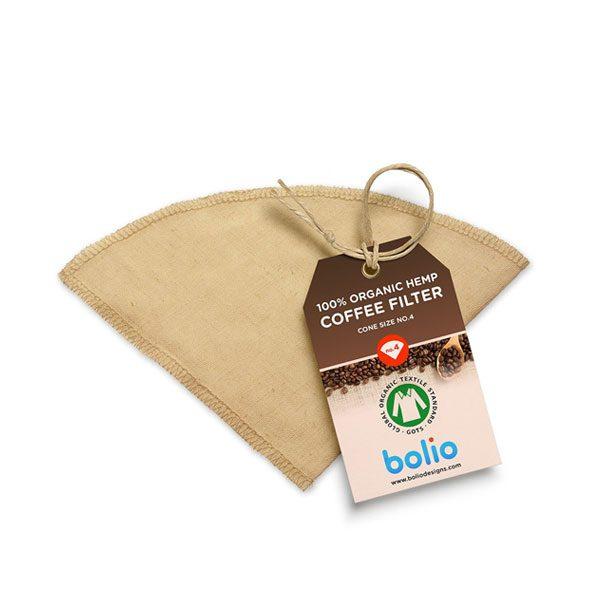 Reusable Organic Hemp Coffee Filter Cone