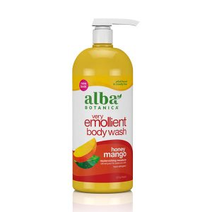 Alba Botanica Very Emollient, Honey Mango Bath & Shower Gel, 32 Ounce