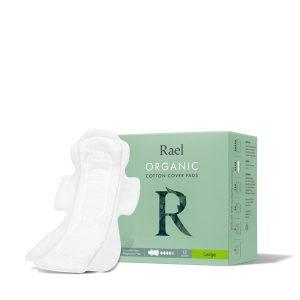 Rael Organic Cotton Menstrual Pads Large