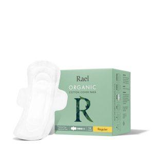Rael Organic Cotton Menstrual Pads Regular