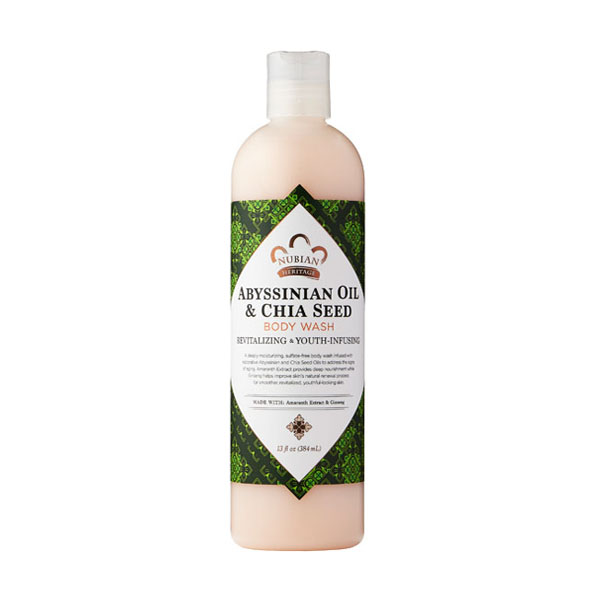 Nubian Heritage Abyssinian Oil and Chia Seed Body Wash: Live By