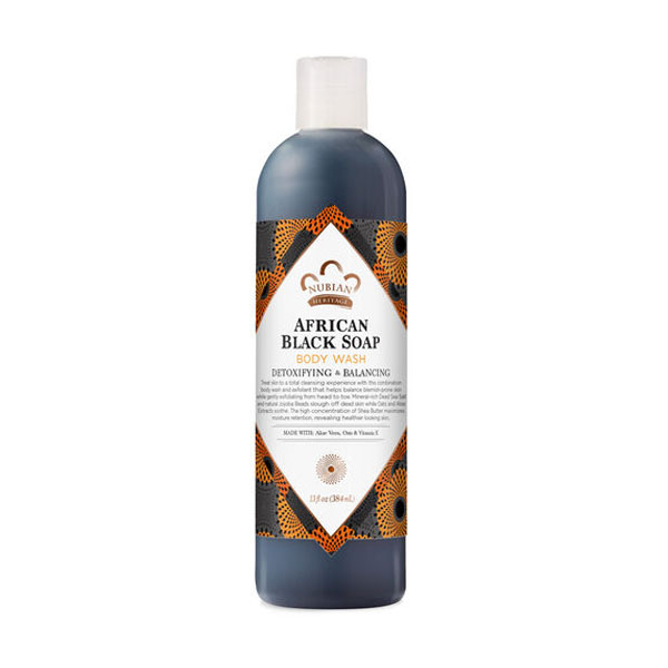 Nubian Heritage African Black Soap Body Wash: Live By