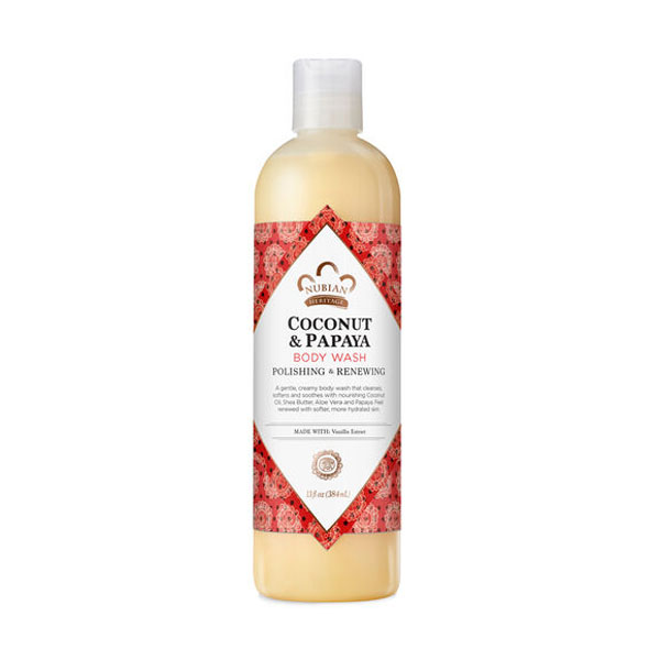 Nubian Heritage Coconut & Papaya Body Wash: Live By