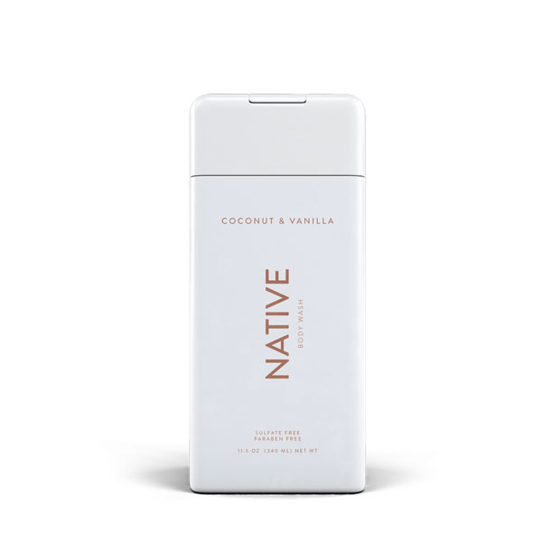 Native Coconut and Vanilla Natural Body Wash: Live By