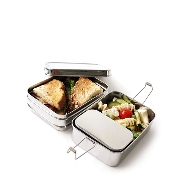 Ecolunchbox Three-Piece Nesting Bento Lunch Box Classic: Live By